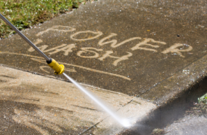 Sidewalk power washing